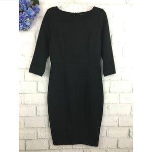 Boden Black Fitted Ponte Sheath Dress WH400